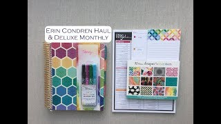 ERIN CONDREN-2019-DELUXE MONTHLY! + Haul Unboxing