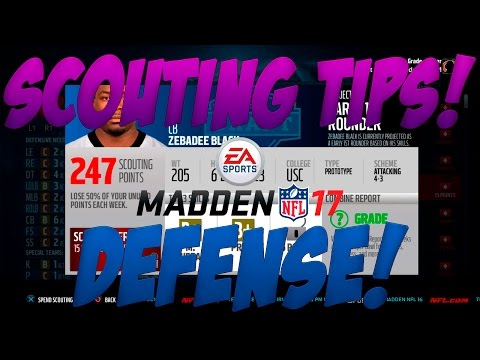 Madden 17 Franchise Rebuilding   DEFENSE SCOUTING TIPS! What to Look for When Scouting! How To Draft