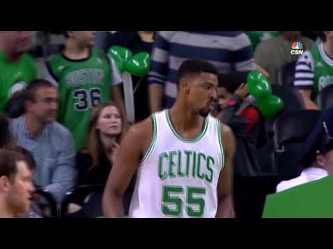 Jordan Mickey unleashes two BIG slam dunks vs Nets (10/17/2016)