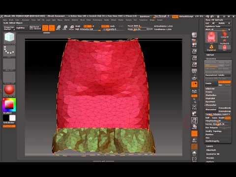 Tris To Quads: Marvelous Designer - ZBrush - Blender (Part 2)