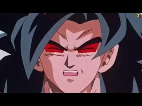 Super Sayan 4 Goku vs Omega Shenron Full Fight