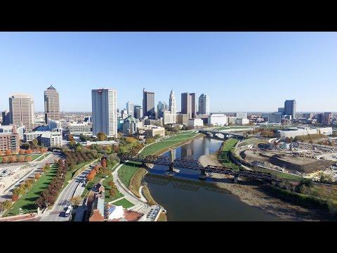 Columbus Skyline - Drone