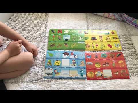 Изучаем Времена Года с Ребёнком. Развитие Ребёнка с Помощью Познавательных Картинок