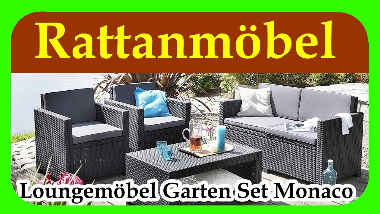 loungem bel garten set monaco guenstige rattan gartenmoebel f r terrasse garten und balkon. Black Bedroom Furniture Sets. Home Design Ideas
