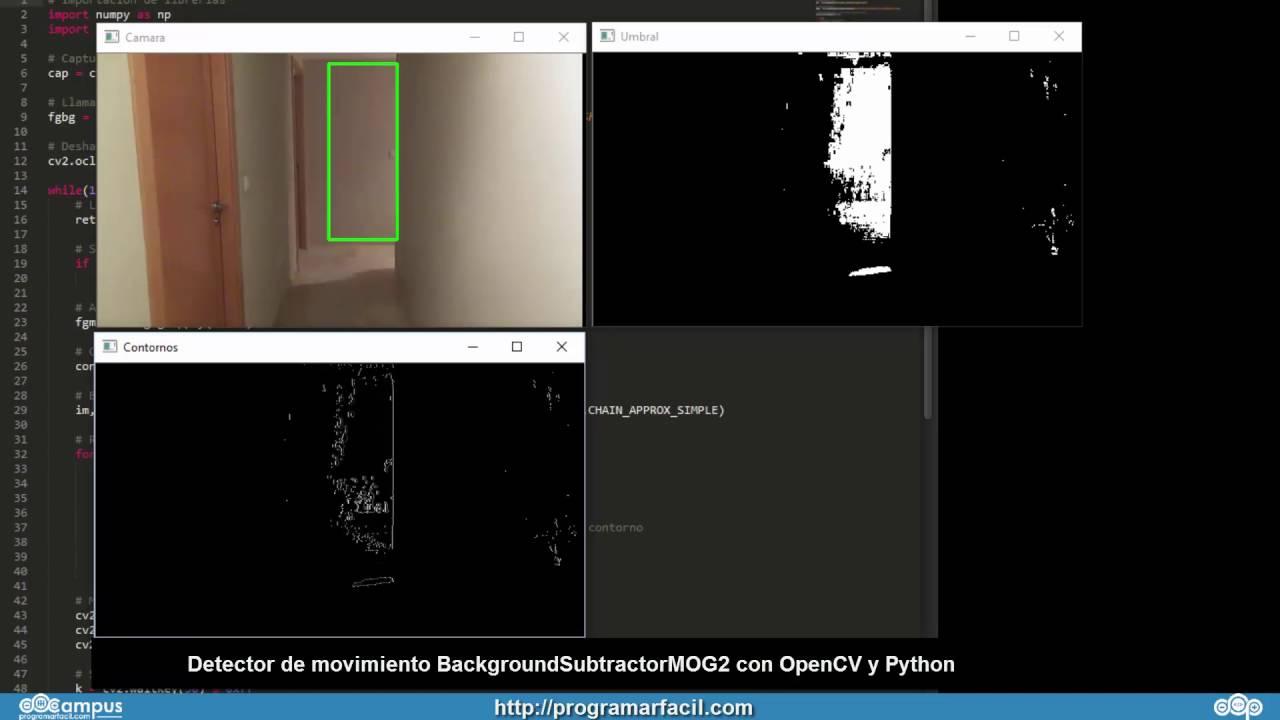 Detección de movimiento con OpenCV y Python