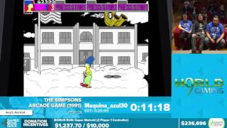 The Simpsons Arcade Game by Maquina_azul30 in 18:49 - Awesome Games Done Quick 2016 - Part 46