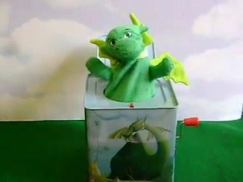 KIDS PREFERRED~PUFF THE MAGIC DRAGON~CRANK~MUSICAL~JACK IN THE BOX~METAL~2012