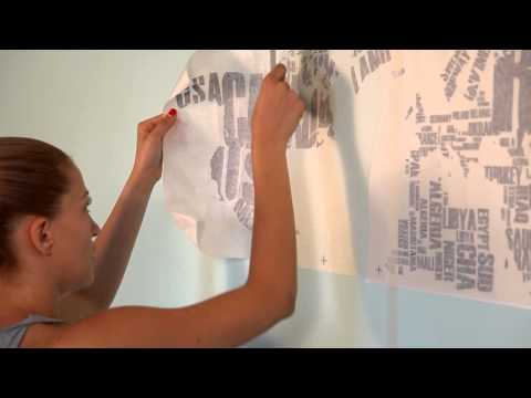 How To Apply: Map Of The World Wall Decal By Www.cutzz.com