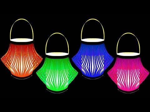 How to Make A Beautiful Paper Lantern (Christmas Crafts) : HD
