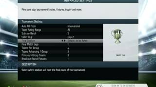 how to play world cup tournament in fifa 14 without FUT