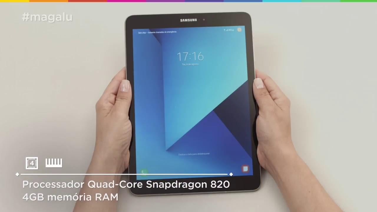 83601f137e4 tablet samsung galaxy tab s3 32gb tela 9.7 4g - android 7.0 proc. quad core  câm 13mp + frontal 5mp