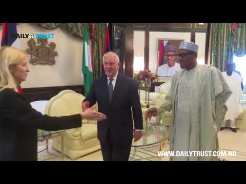 Scenes from US secretary of state, Tillerson meeting with President Buhari