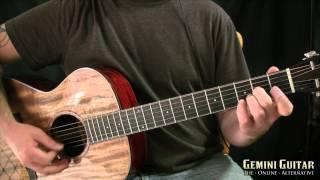 Dark Folk Guitar - Moving Scale Tones, Alternate Picking
