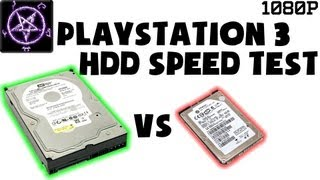 PlayStation 3 / PS3 HDD Comparison Test - 2.5 5400rpm vs 3.5 7200rpm HDD