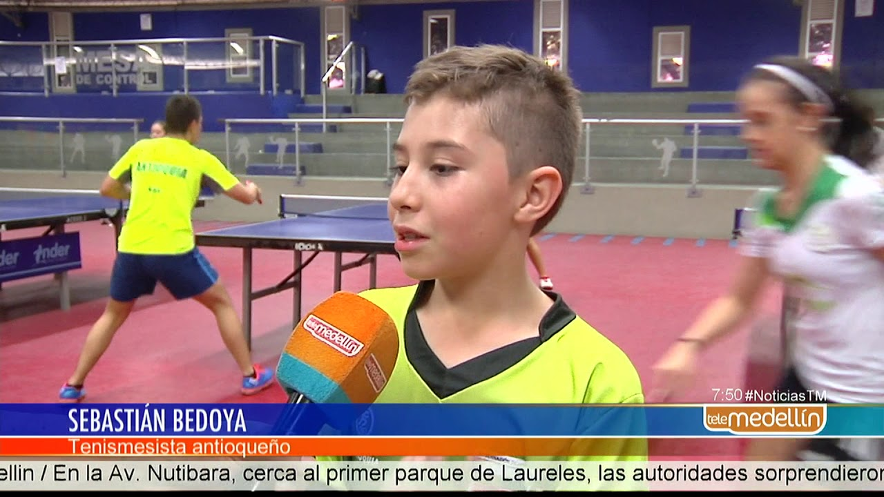 1eeaceedb La categoría infantil dará inicio al Campeonato Nacional de Tenis de Mesa   Noticias  - Telemedellín