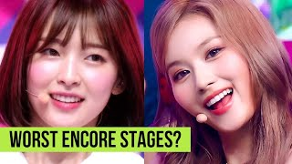 Kpop 4 Worst ENCORE Stages Ever