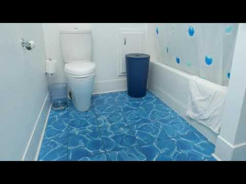 Bathroom Ideas With Blue Tile Floor
