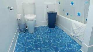 Bathroom Ideas With Blue Tile Floor