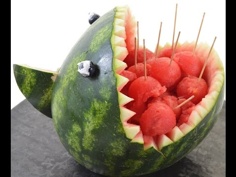 Thumbnail: Curving a Watermelon into Scary Shark