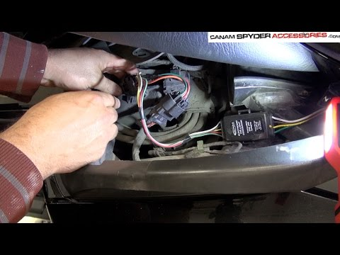 installation part 1 of 2 rt spyder plug play trailer harness 2010 rh youtube com Can-Am Spyder Frame Diagram Can-Am Spyder Repair Manual