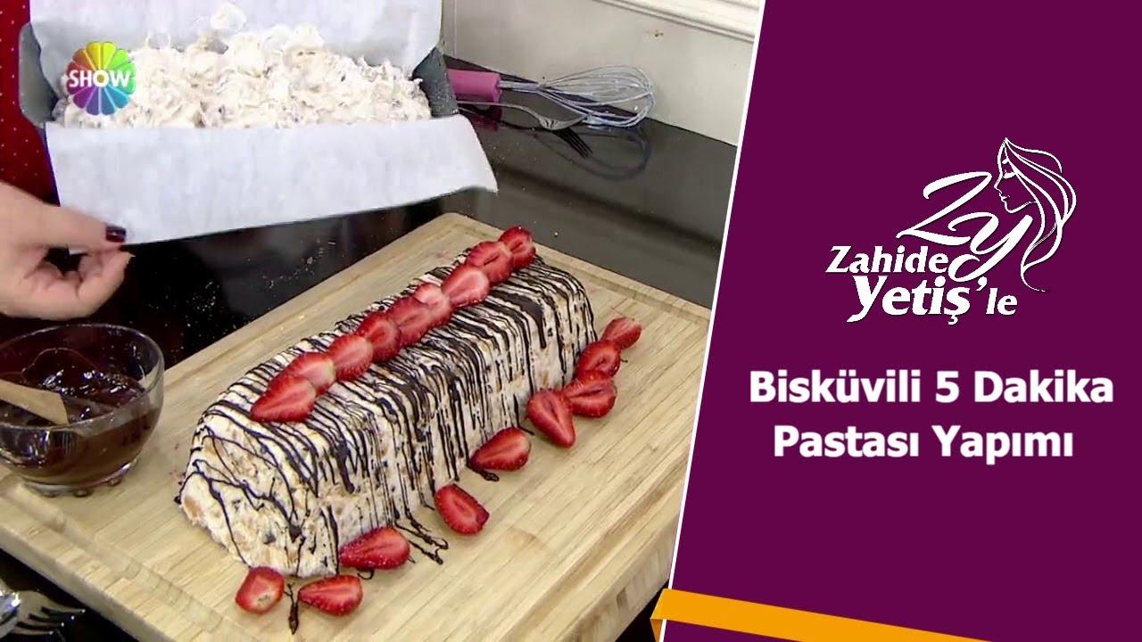 Bisküvili 5  Dakika Pastası Yapımı