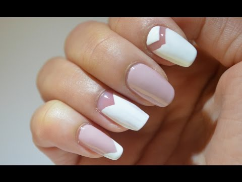Easy White Nude Nail Art Youtube