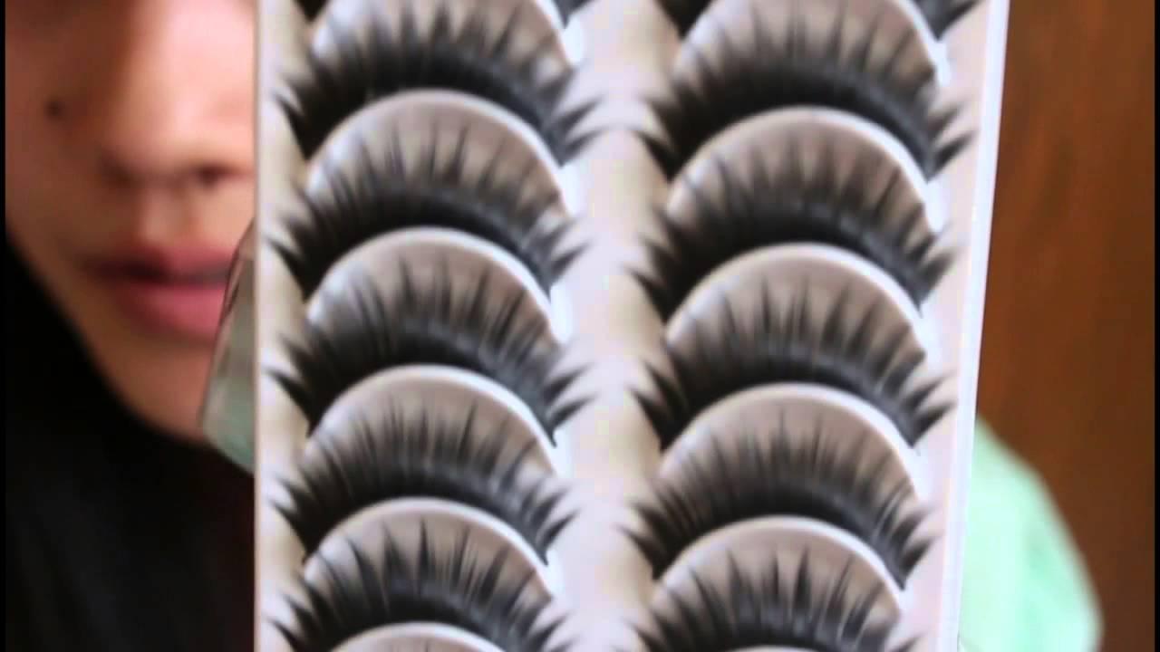 False Eyelashes Haul Model 21 Madame Madeline Youtube
