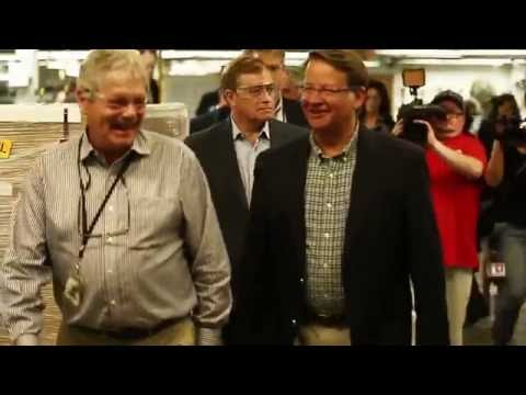 Senator Gary Peters visits Wolverine World Wide in Big Rapids
