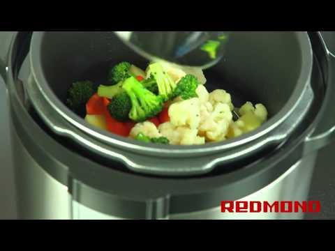 Овощи на пару в мультиварке Redmond RMC-M4504