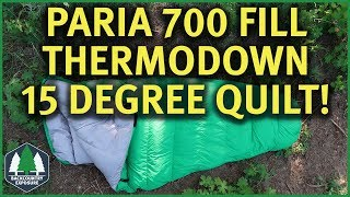 Thermodown 15 Degree Quilt (Full Review) | Paria Outdoor Products
