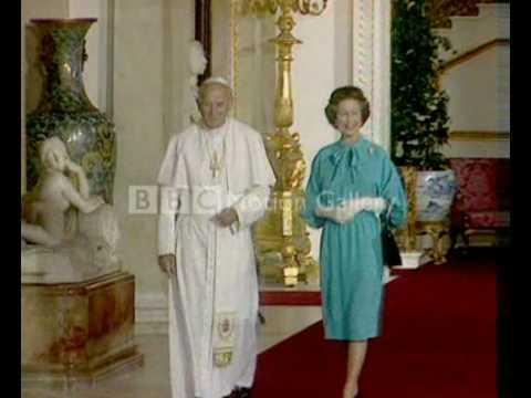 Queen Elizabeth II and Pope John Paul II