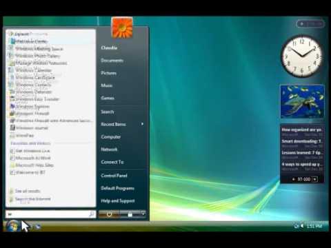 Windows Vista Tutorials - Desktop Basics