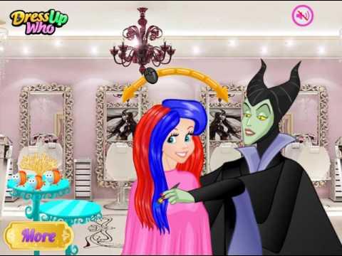 Мультик игра Принцессы Диснея: Шуточные прически (Princess April Fools Hair Salon)