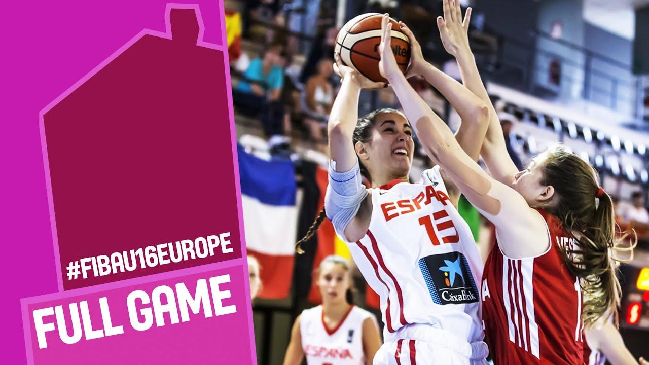Spain v Russia - Full Game - R 16 - FIBA U16 Women's European Championship 2016