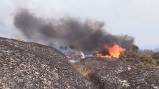 Un nuevo infierno de llamas siembra el caos en Portugal