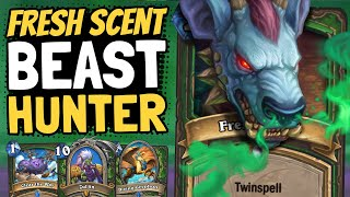 FRESH SCENT IS SO GOOD!! And So is Midrange Beast Hunter! | Galakrond's Awakening | Hearthstone