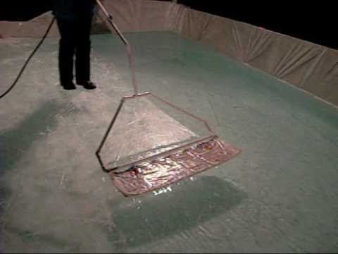 How to zamboni your backyard ice rink (homemade zamboni) - YouTube