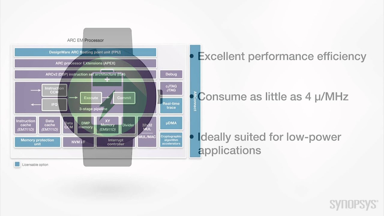 Synopsys ARC EM DSP Processors for Low-Power Embedded Systems