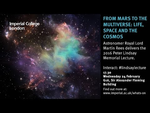 From Mars to the multiverse: life, space and the cosmos