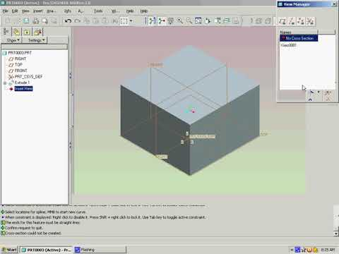 Pro-E wildfire 20 CrossSections - YouTube