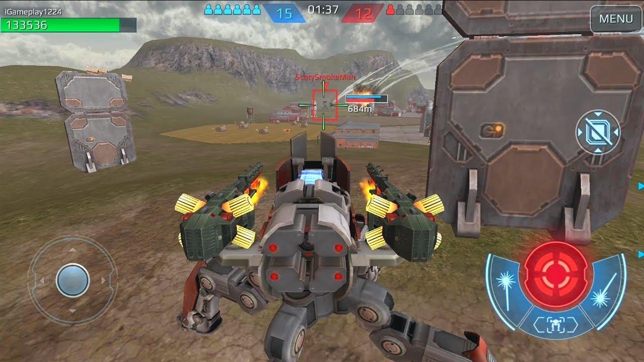 Игра война красных и синих роботов