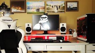 Black and White Minimalistic Gaming Setup - Setup Spotlight