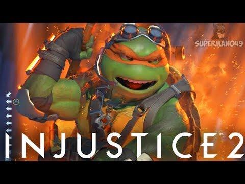 Awesome Epic Michelangelo Skateboard Gear! - Injustice 2