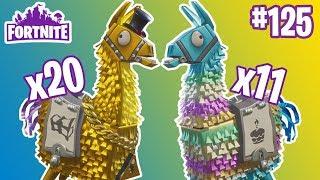 11 Birthday Llamas & 20 Legendary Troll Stash Llamas | Fortnite #125