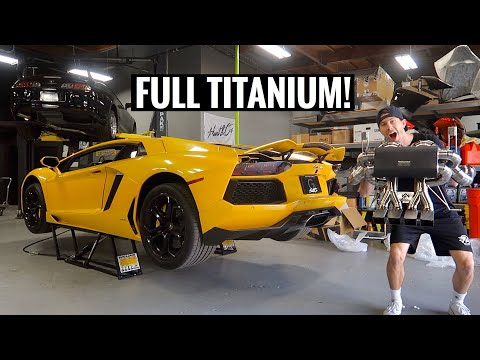 Lamborghini Aventador LOUD Exhaust Install!