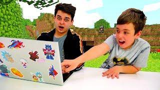 Майнкрафт видео летсплей  - Что построит в Minecraft Нуб - Игра шоу Кубик Нубика.