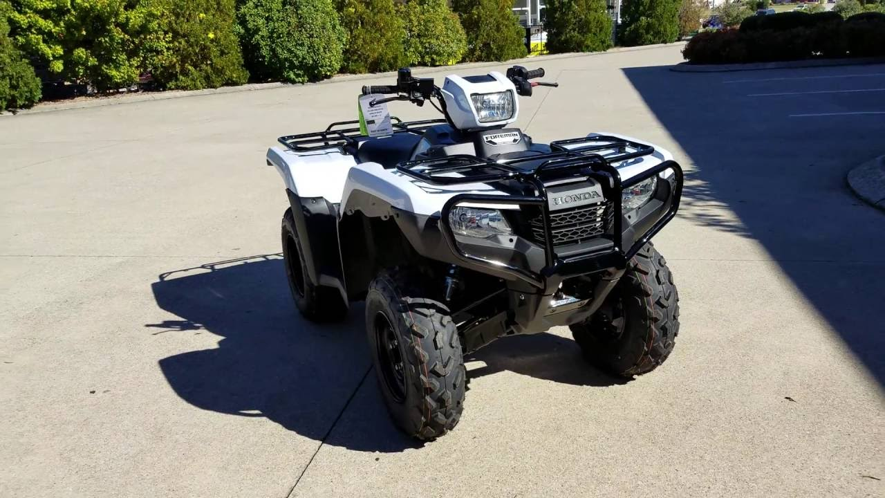 2017 Honda Foreman 500 ES + EPS 4x4 ATV (TRX500FE2H) Walk-Around Video | White | HondaProKevin ...
