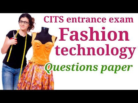 Cits Entrance Exam Fashion Technology Simple Paper Youtube