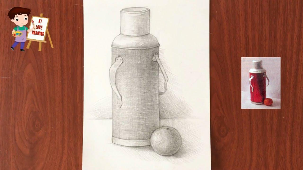 Vẽ theo mẫu có 2 đồ vật: Mẫu cái phích và quả ( mỹ thuật 6 )