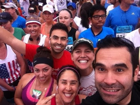 2013 San Diego Rock and Roll Half Marathon Starting line!